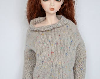 Knitted sweater for Msd (42-44cm), BJD 1/4.