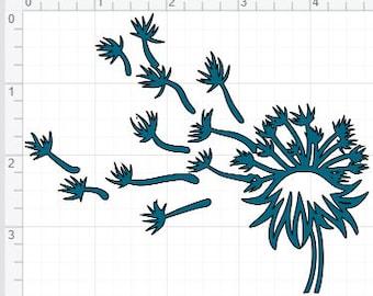 Dandelion Blowing Design SVG EPS DXF pdf Studio 3 Cut File
