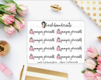 Pamper yourself stickers