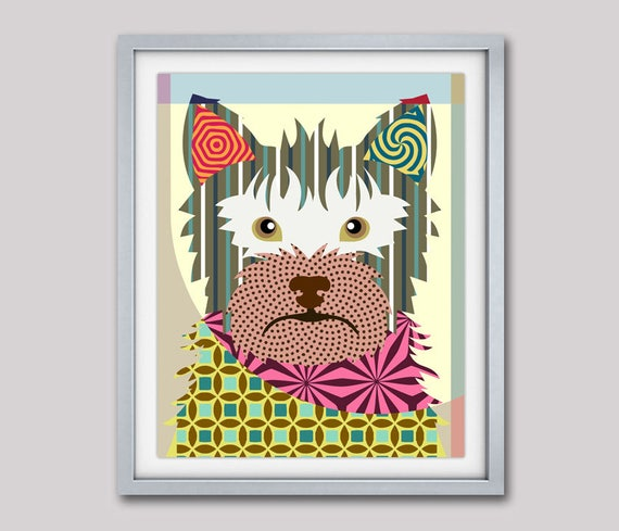 Australian Terrier, Dog Portrait, Dog Pop Art, Dog Breed Poster, Dog Breed Print, Colorful Dog Art, Dog Poster