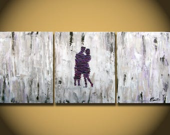 Abstract painting - OIL painting- Couple Painting-Original Painting-Wedding Gift-Valentine Gift-ABSTRACT Art- Figurative Wall Art on canvas