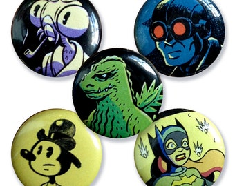 Pin Back Buttons