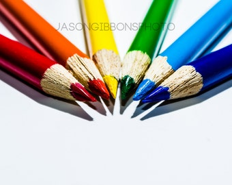 Colored Pencil Photography, Abstract, Abstract Photography, Wall Art, Home Decor, Pencil, Teacher Gift