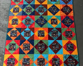 Old Fashioned Cars Quilt