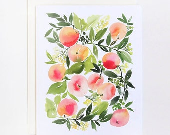Peach Harvest - A2 Greeting Card