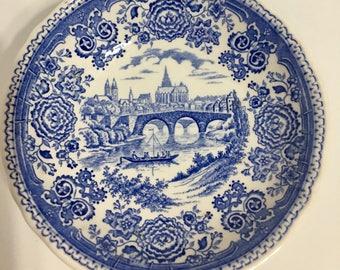 Vintage Villeroy & Boch Germany Blue Bugerland Bowl