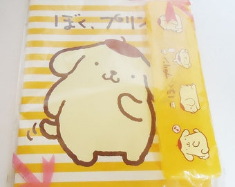 Pompompurinchan Notebook and Pencil Case.Sanrio.1997.Perfect for my Secrets
