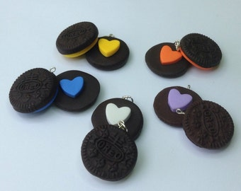 cookie friendship necklace 2 part friendship necklace chocolate biscuit cookie necklaces best friends food jewellery bff bag charms