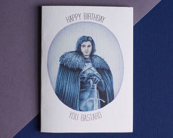 Game of Thrones Jon Snow Birthday Card (Birthday, Anniversary, Custom)