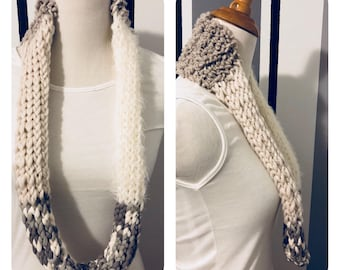 Textured Knitted Cowl