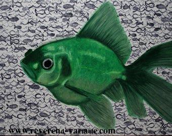 Green Fish (Print)