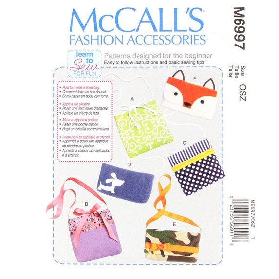 McCall\'s M6997 Sewing Pattern New & Unused Crossbody Learn to Sew ...