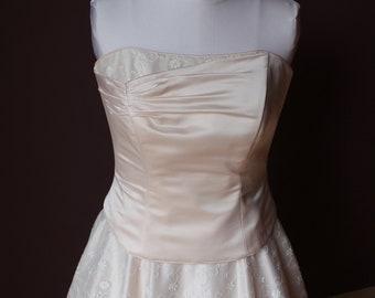 Silk Wedding Dress - Two Piece - size 12