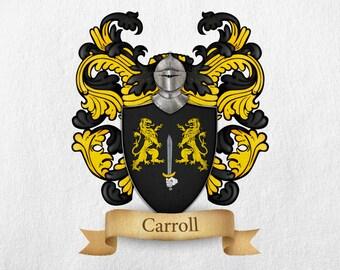 Carroll Family Crest - Print