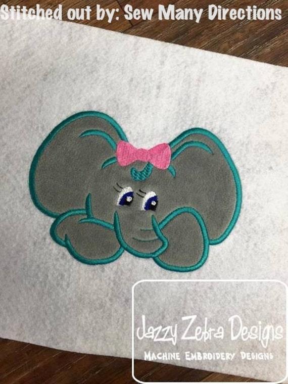 Elephant 101 Applique embroidery Design - girl Appliqué Design - zoo Applique Design - elephant Applique Design - safari Applique Design