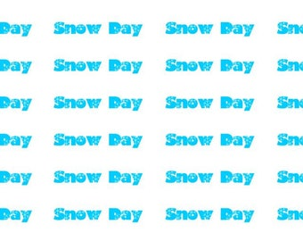 Snow Day Wordy Icons WI0031