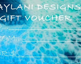 Aylani Designs Resin Art GIFT VOUCHER