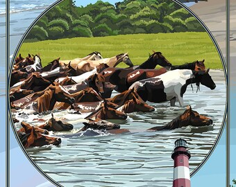 Assateague, Maryland - Montage (Art Prints available in multiple sizes)