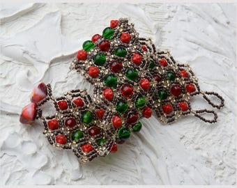 Fashion Bracelet, Seed Bead Bracelet, Beadwoven bracelet, Cuff bracelet, Bracelet Colorful, Czech glass beads