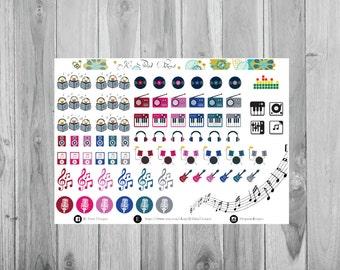 Music Stickers, Plum Paper Planner Stickers, Plum Paper Sticker Designs, Functional Stickers, Singing Planner Stickers, Music Stickers