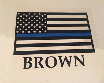 Blue Line/Red Line Flag Decals