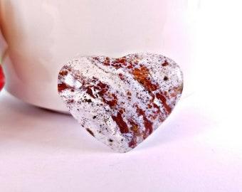 Carved Ocean Jasper Crystal Heart