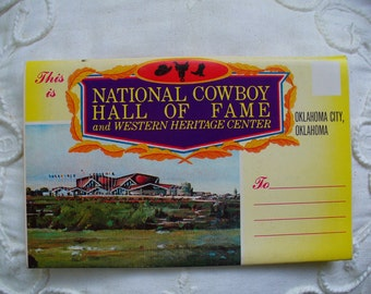 National Cowboy Hall of Fame Postcard folder