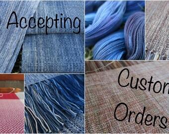 Custom Handwoven Fabric Deposit