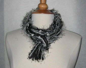 The Knotty Scarf in Black and White and the Grey Between