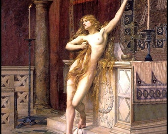 Hypatia - Pre-Raphael Art- Charles Williams Mitchell - Mathematician - Astronomer -