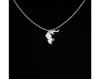 Greece Necklace - Country Necklace - Greece Jewelry - Greece Gift