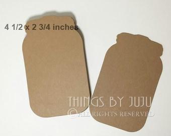 Mason Jar Die Cuts Mason Jar Wedding Bucket List Cards Rustic Wedding Tag Bride Groom Advice Wishing Well  Wedding Favor Mason Jar Decor 25