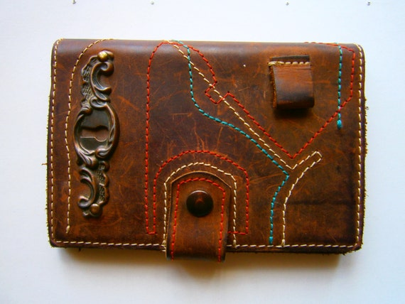 Anticated Agenda Case, Handmade Leather Agenda Case, Notebook Case, Made to order, Gift for Her, Gift for Him,