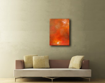 Large Orange Painting - Brown Painting - Modern Abstract Painting - Earth Colours - Cave Dwelling