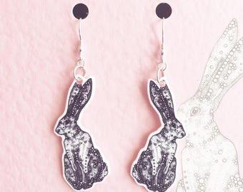 Hare Earrings - Rabbit - Jewellery