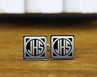1920 film style cufflinks, custom initials cufflinks, custom wedding cufflinks, personalized cuff links, monogram cufflinks, groom cufflinks