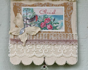 Collage Fabric Wall Hanging Cherish