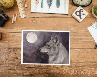 The Last Wolf Greeting Card