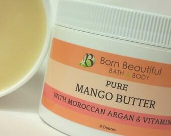Mango Butter, Mango Body Butter, Hair Butter, Mango Moisturizer, Body Butter, Argan Oil