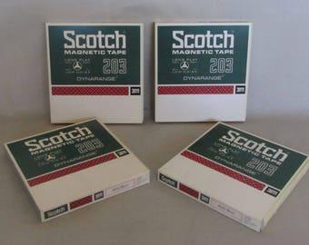 Scotch Magnetic Recording Tape, 7in, Long Play, 1800ft, Dynarange 203, 203-18w2, 3M