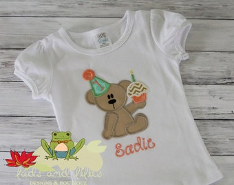 Teddy Bear Cupcake First Birthday Shirt
