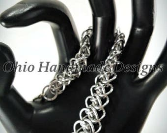 Arkham style chainmaille bracelet