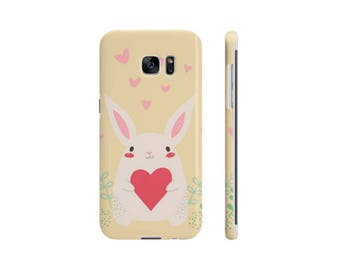 Valentines Bunny iPhone and Samsung Case | iPhone 6/6s, 7/8, 7 Plus/8 Plus | Galaxy S6, S6 Edge, S7, S7 Edge