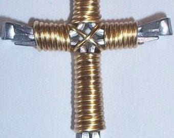 Gold Disciples cross necklace