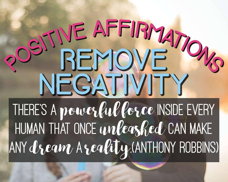 Workbooks total transformation workbook : REMOVE NEGATIVITY Positive Affirmations Workbook/Affirmations