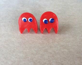 Call me Blinky:Pac Man Ghost Stud Earrings