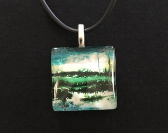 Great Barrier Reef Necklace, Custom made from Original Art Image, Unique Jewellery