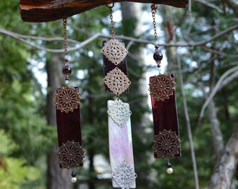 Stained Glass Suncatcher (Purple)