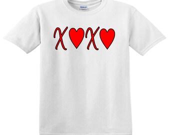 XOXO - with hearts Valentines Tee