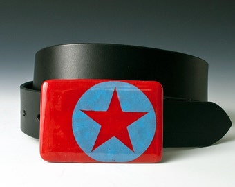 Fused Glass Star Buckle